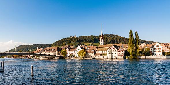Abbey - Monastery「Switzerland, Canton of Schaffhausen, Stein am Rhein, Rhine river, Old town, St. George's Abbey and Hohenklingen Castle」:スマホ壁紙(9)