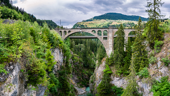 Viaduct「Switzerland, Graubuenden Canton, Solis Viaduct」:スマホ壁紙(12)
