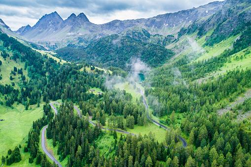European Alps「Switzerland, Graubuenden Canton, Aerial view of Albula Pass」:スマホ壁紙(6)