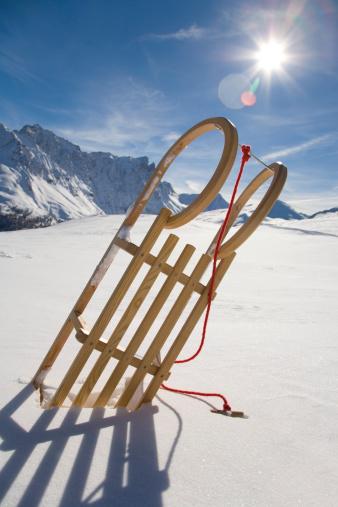 Sled「Switzerland, Graubuenden, Savognin, Winter scenery with sledge」:スマホ壁紙(7)