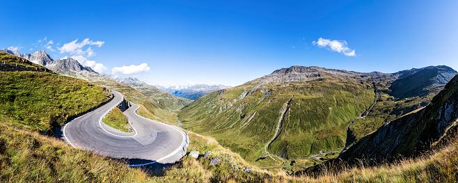 Hairpin Curve「Switzerland, Valais, Furka pass」:スマホ壁紙(3)