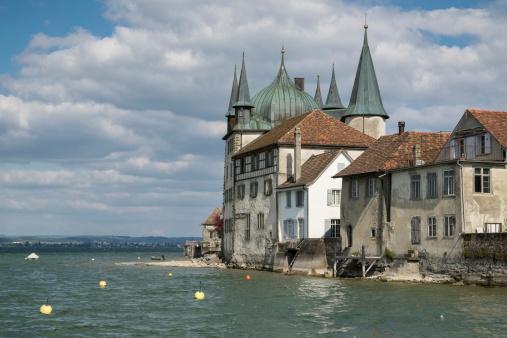 Thurgau「Switzerland, Thurgau, view to tower yard at harbour of Steckborn」:スマホ壁紙(11)