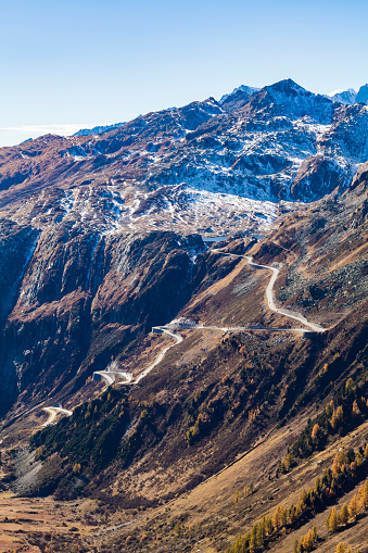 Hairpin Curve「Switzerland, Valais, Alps, view to Grimsel Pass」:スマホ壁紙(12)
