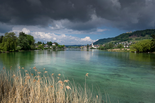 Thurgau「Switzerland, Thurgau, Eschenz, View to Stein am Rhein」:スマホ壁紙(19)