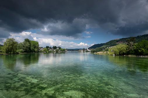 Thurgau「Switzerland, Thurgau, Eschenz, View to Stein am Rhein」:スマホ壁紙(1)