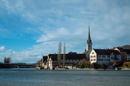Thurgau「Switzerland, Stein am Rhein, old town at Rhine river」:スマホ壁紙(17)