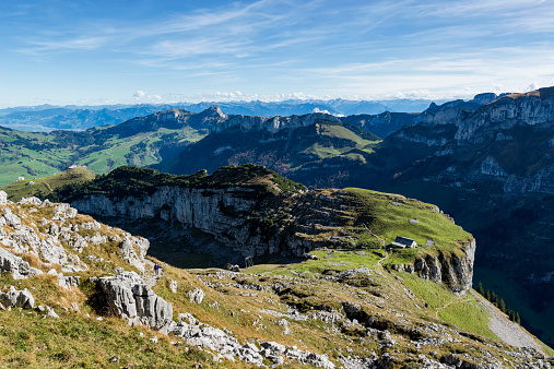 Remote Location「Switzerland, Canton of Appenzell Innerrhoden, View to Alp Chlus, in the background Hoher Kasten」:スマホ壁紙(7)