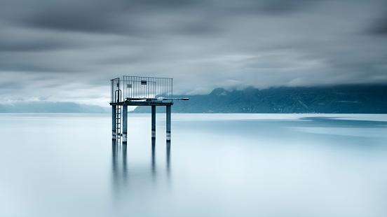 Diving Platform「Switzerland, Lac Leman, View of diving platform」:スマホ壁紙(6)