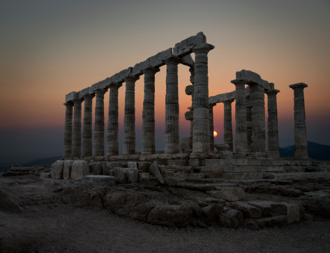 Greece「Temple of Poseidon, Sounion, Greece」:スマホ壁紙(9)