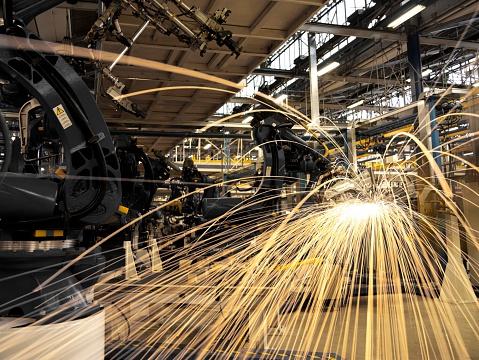 花火「スパークができ、工場機械」:スマホ壁紙(5)