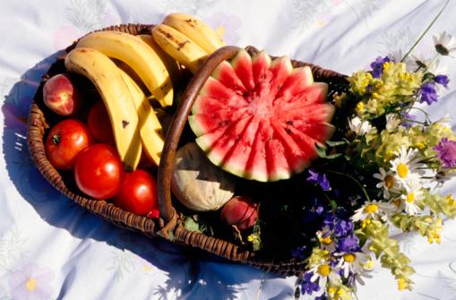 メロン「Fruit in basket」:スマホ壁紙(1)