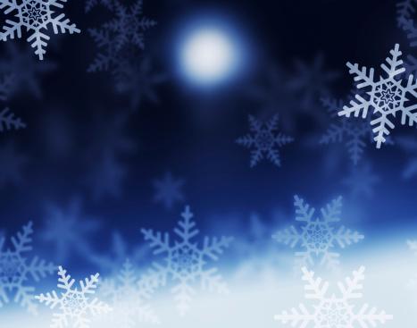 雪の結晶「冬の夜」:スマホ壁紙(1)