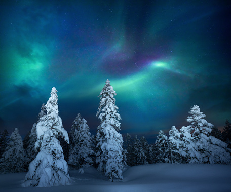 Dramatic Landscape「Winter Night」:スマホ壁紙(11)