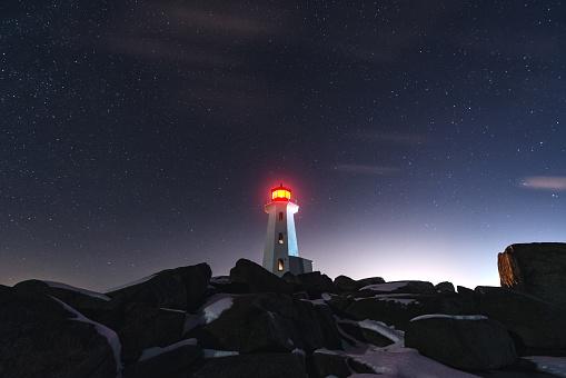 Beacon「Winter Night at Peggy's Cove Lighthouse」:スマホ壁紙(19)