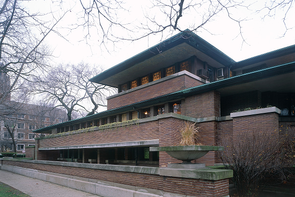 Brick Wall「The Robie House, Chicago University, Illinois, USA. Designed by Frank Lloyd Wright.」:写真・画像(3)[壁紙.com]