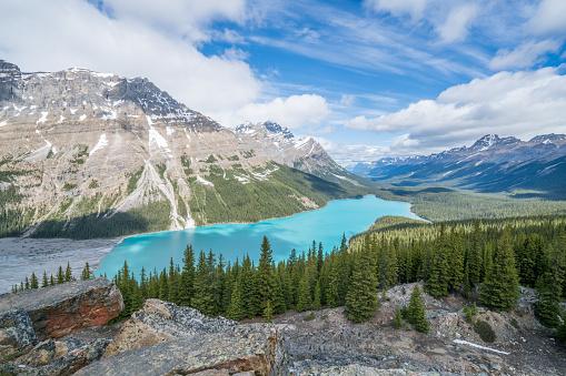 cloud「カナダ バンフ国立公園ペイトー湖」:スマホ壁紙(12)