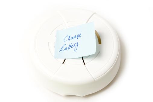 Smoke Detector「Change the battery」:スマホ壁紙(2)