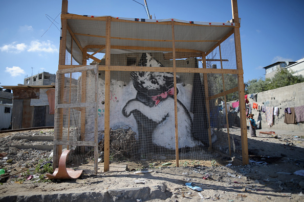 Graffiti「Life In Gaza Almost A Year After The 2014 Conflict With Israel」:写真・画像(18)[壁紙.com]