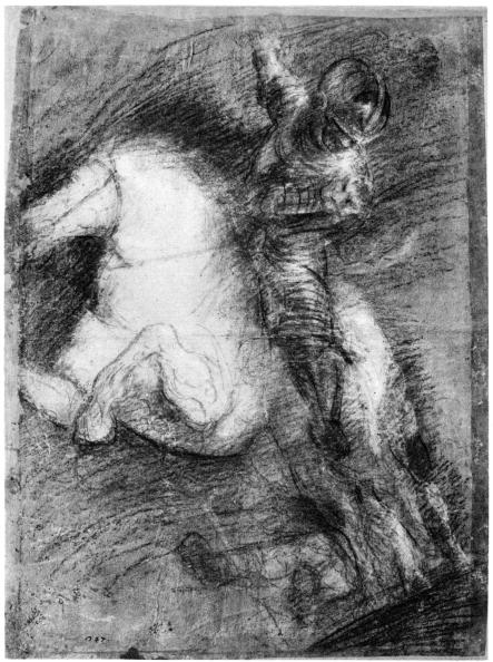 クレヨン「'Horseman for the Battle of Cadore', c1525, (1937). Artist: Titian」:写真・画像(7)[壁紙.com]