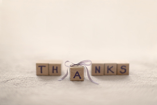 Gratitude「Word Thanks made from building blocks」:スマホ壁紙(17)