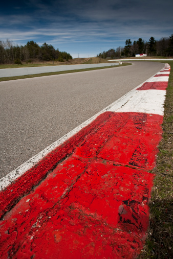 Competitive Sport「Corner rumble strips on a car race track」:スマホ壁紙(5)