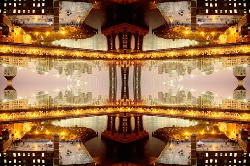 Fourth of July「surrealist view of Brooklyn Bridge」:スマホ壁紙(7)