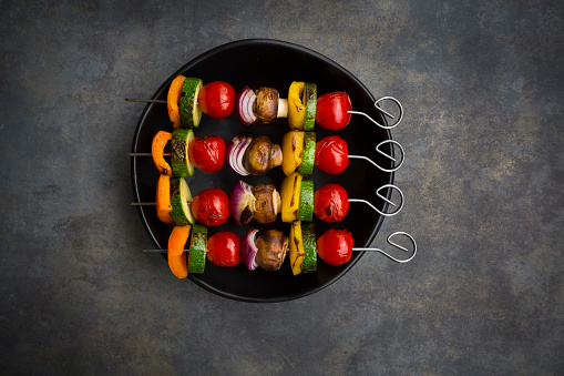 Cherry Tomato「Vegetarian grill skewers on bowl」:スマホ壁紙(19)
