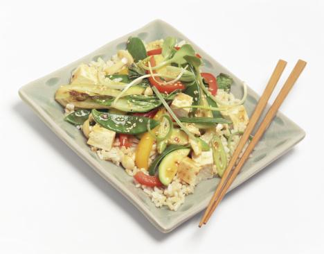 Brown Rice「Vegetarian tofu stir fry over brown rice」:スマホ壁紙(0)