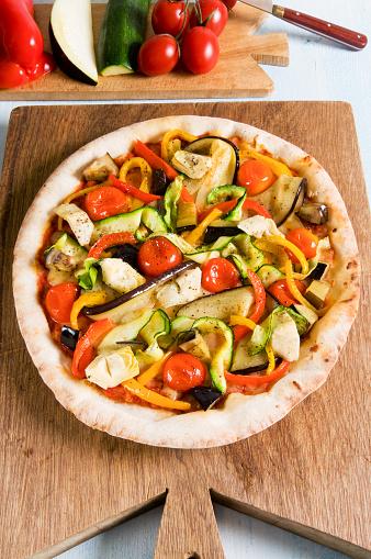 イタリア「Vegetarian pizza」:スマホ壁紙(18)
