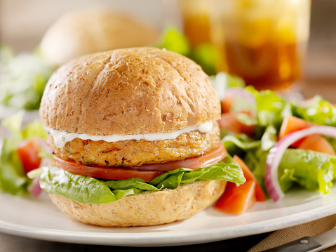 Veggie Burger「Vegetarian Soy Burger with Spinach」:スマホ壁紙(12)