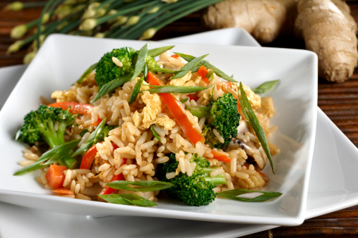 Brown Rice「Vegetarian Fried Rice with Vegetables, Healthy」:スマホ壁紙(7)