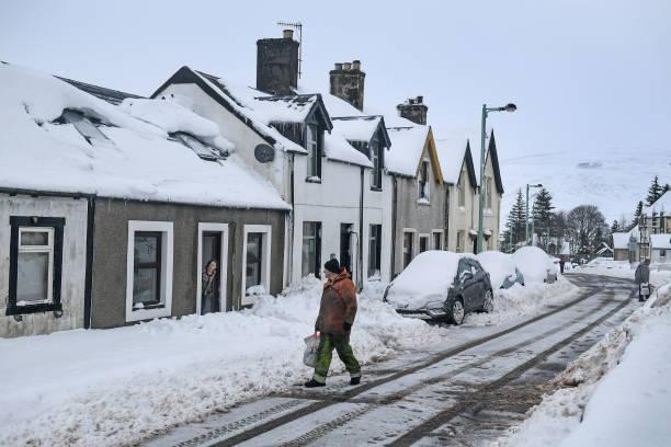 雪「Storm Fionn Brings Chaos To The UK」:写真・画像(12)[壁紙.com]