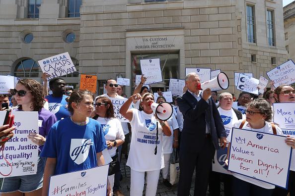 Weekend Activities「Protestors Rally At US Customs And Border Patrol HQ In Washington DC」:写真・画像(12)[壁紙.com]