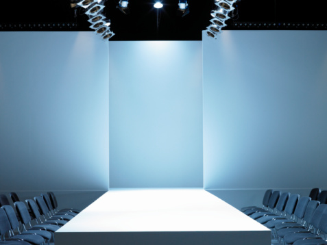 Catwalk - Stage「Empty catwalk and seating for fashion show」:スマホ壁紙(2)