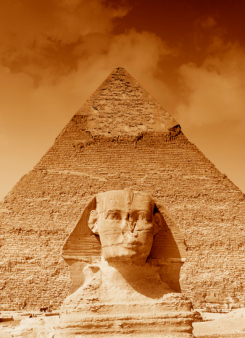Sepia Toned「view of Egyptain monuments」:スマホ壁紙(9)