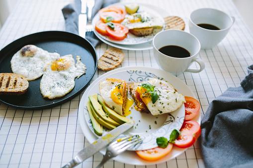Avocado「Breakfast for two, eggs, avocado, coffee, tomatoes」:スマホ壁紙(2)