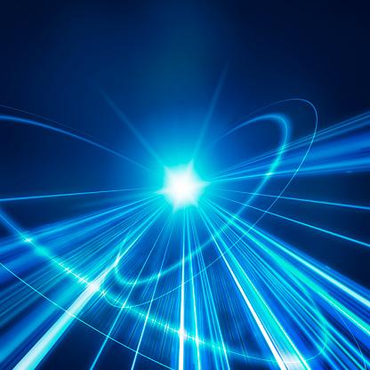螺旋形「Radiating Blue Light in Circle Pattern」:スマホ壁紙(11)