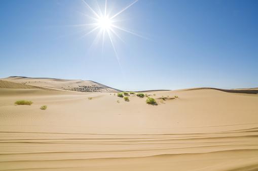 アウバリ砂海「Desert,Inner Mongolia,China」:スマホ壁紙(14)