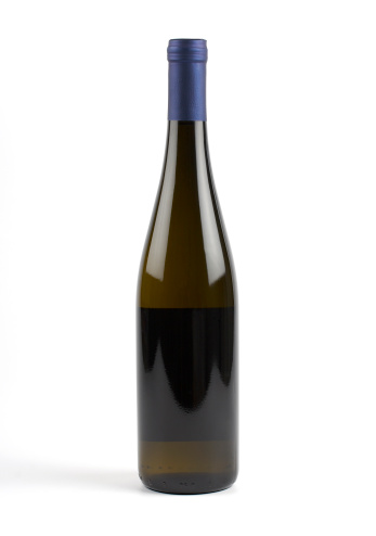 French Culture「White wine bottle (clipping path), isolated」:スマホ壁紙(17)