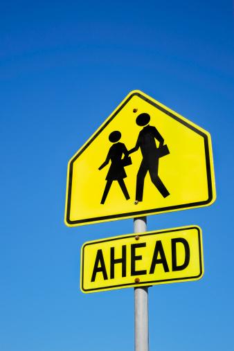 Pedestrian Zone「School crossing sign」:スマホ壁紙(18)