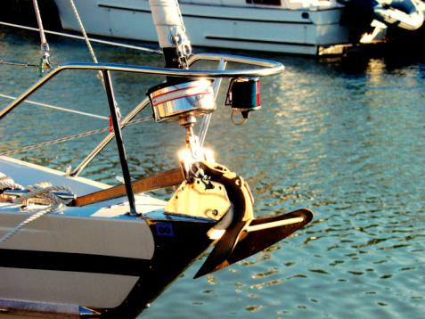 Anchor - Vessel Part「Boat anchored at a harbor」:スマホ壁紙(19)