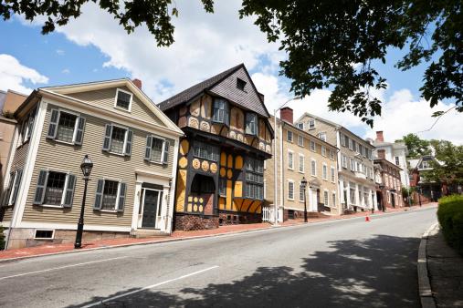19th Century「Thomas Street in Providence Rhode Island」:スマホ壁紙(12)