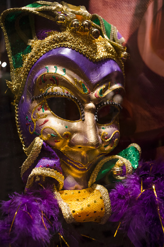 カーニバル「USA, Louisiana, New Orleans, Mardi Gras mask」:スマホ壁紙(19)