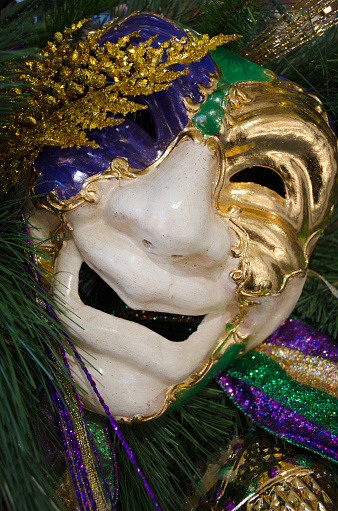 カーニバル「USA, Louisiana, New Orleans, Mardi Gras mask」:スマホ壁紙(18)
