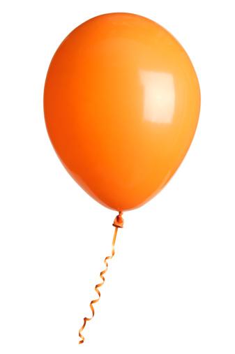 Birthday「orange party balloon isolated on white」:スマホ壁紙(0)