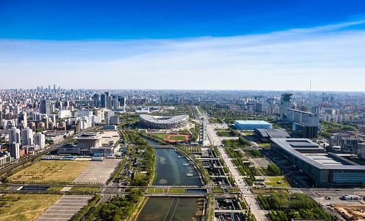 Olympic Stadium「Urban architecture in Beijing」:スマホ壁紙(18)