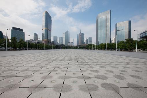 Town Square「Urban architecture of Guangzhou City,Guangdong Province,China」:スマホ壁紙(1)