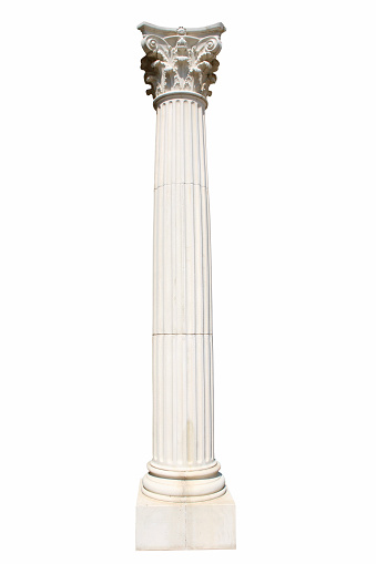 Gothic Style「Isolated column on white.」:スマホ壁紙(4)