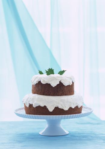 クリスマスケーキ「A double-tier cocoa cake on stand」:スマホ壁紙(14)