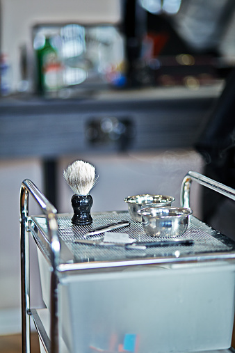 Great Yarmouth - Norfolk「Barber shop shaving kit ready to be used」:スマホ壁紙(6)